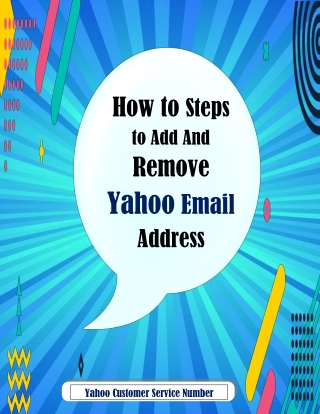 Steps to Add and Remove Yahoo Email Address