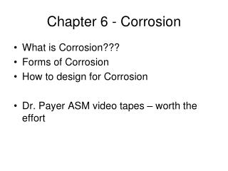 Chapter 6 - Corrosion