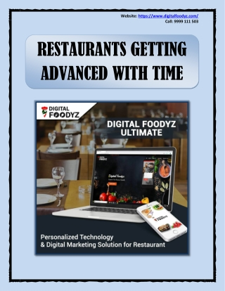 Digital Marketing for Restaurants - Getting Advanced With Time