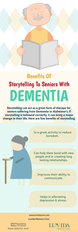 Benefits Of Storytelling To Seniors With Dementia