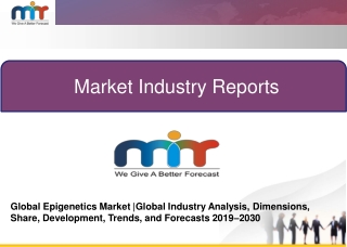 Global Epigenetics Market |Global Industry Analysis, Dimensions, Share, Development, Trends, and Forecasts 2019–2030