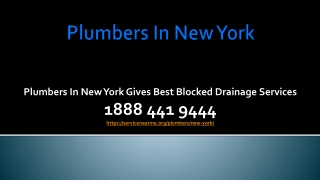 Plumbers in New York Gives Best Blocked Drainage Services