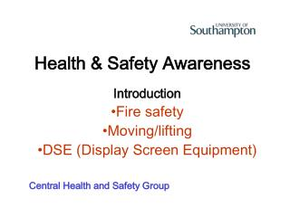 Health & Safety Awareness