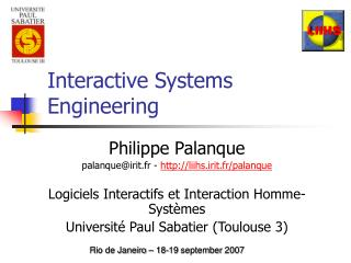 Interactive Systems Engineering