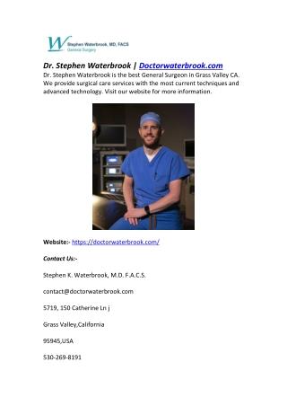 Dr. Stephen Waterbrook   Doctorwaterbrook.com