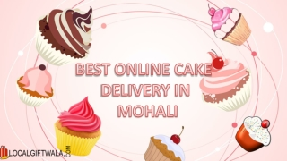 Best Online Cake Delivery in Mohali