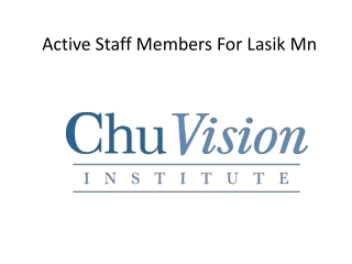 Active Staff Members For Lasik Mn