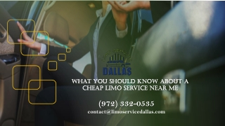 What You Should Know About a Cheap Limo Service
