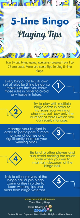 5-Line Bingo Playing Tips