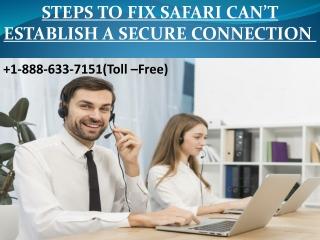Steps To Fix Safari Can't Establish A Secure Connection