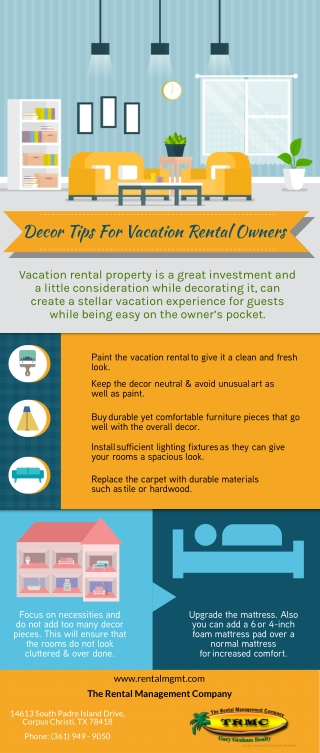 Decor Tips For Vacation Rental Owners