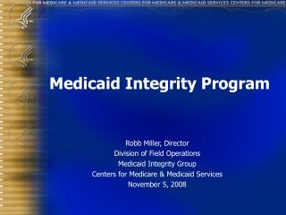 Medicaid Integrity Program