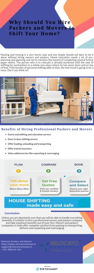 Why Should You Hire Packers and Movers to Shift Your Home?
