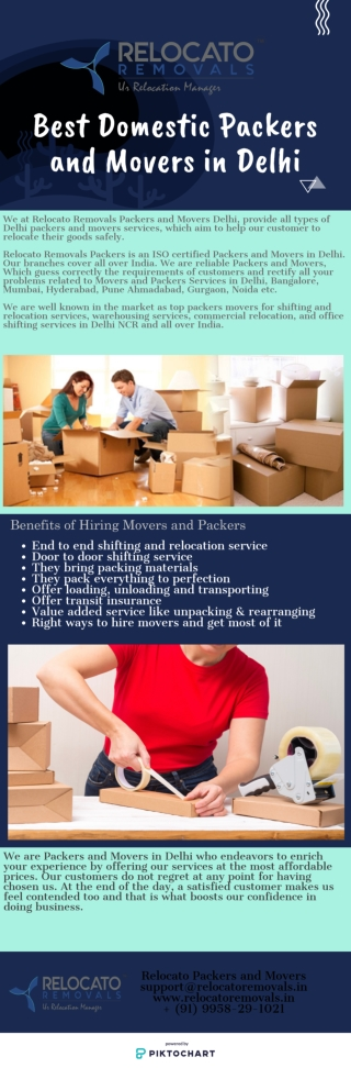 Best Domestic Packers and Movers in Delhi