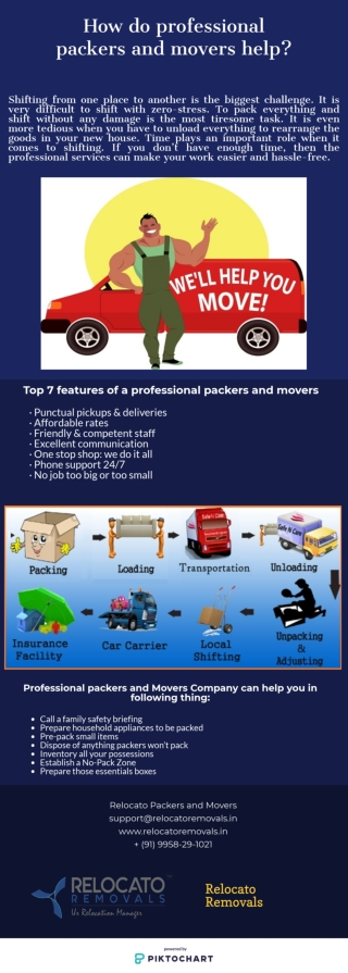 How do professional packers and movers help?