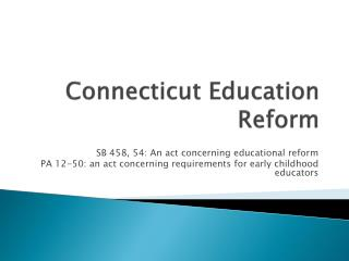 Connecticut Education Reform