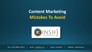 Content Marketing Mistakes ToAvoid