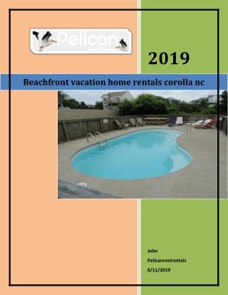 beachfront vacation home rentals corolla nc