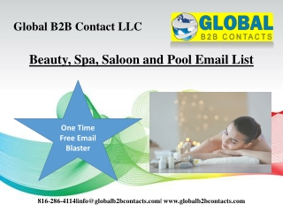Beauty, Spa, Saloon and Pool Email List