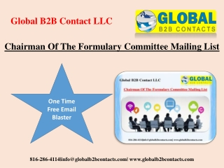 Chairman Of The Formulary Committee Mailing List