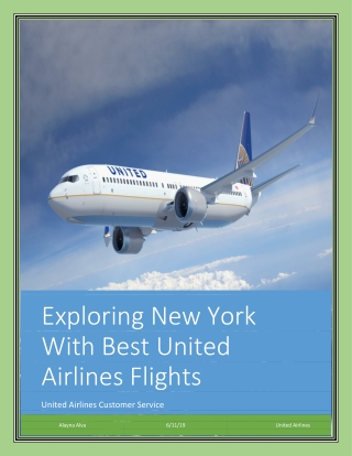 Exploring New York With Best United Airlines Flights