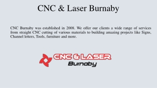 Laser Cutting Vancouver