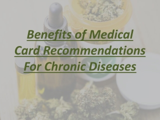 Benefits of Medical Card Recommendations For Chronic Diseases