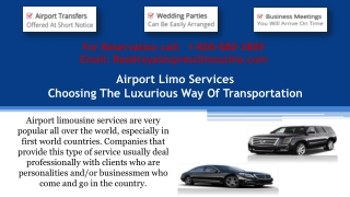 Airport Limo Services: Choosing The Luxurious Way Of Transportation