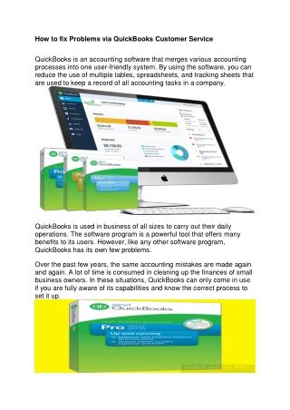 How to fix Problems via QuickBooks Customer Service