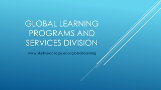 Global Learning Programs and Services Division