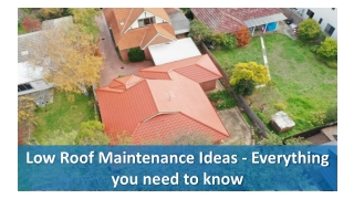Low Roof Maintenance Ideas - Everything you need to know