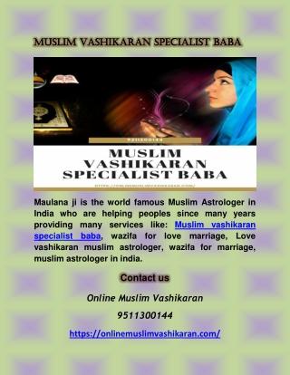 Muslim Vashikaran Specialist Baba