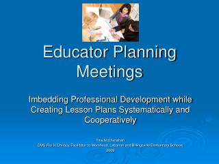 Educator Planning Meetings