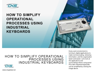 How To Simplify Operational Processes Using Industrial Keyboards