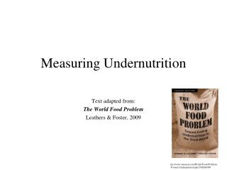 Measuring Undernutrition