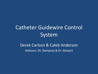 Catheter Guidewire Control System
