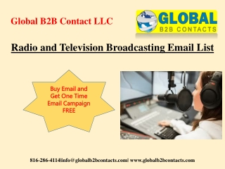 Radio and Television Broadcasting Email List