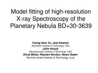 Model fitting of high-resolution X-ray Spectroscopy of the Planetary Nebula BD+30◦3639