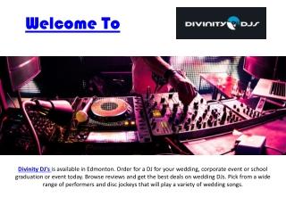 Divinitydjs.com : Edmonton DJ   Edmonton Wedding DJ   Wedding DJ Edmonton