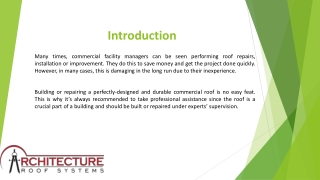 Hire Commercial Roofing Contractor in Austin - Architecture Roof Systems