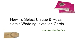 How To Select Royal Islamic Wedding Invitation Cards