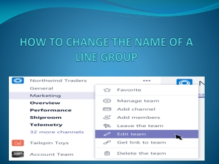 HOW TO CHANGE THE NAME OF A LINE GROUP