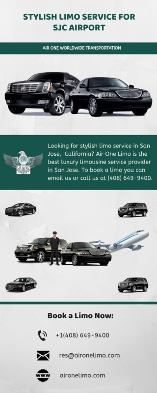 Stylish Limo Service for SJC Airport