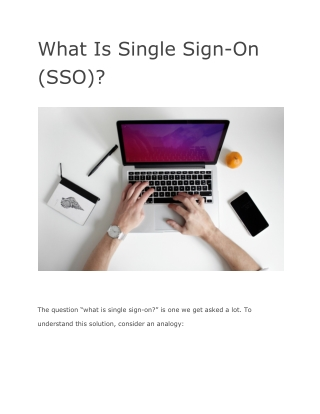 What Is Single Sign-On (SSO)?