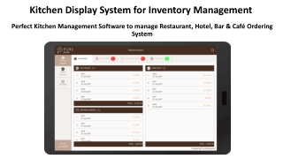 Kitchen Display System Software to monitor Kitchen Management Solutions from mobile and iPad screen in this Presentation