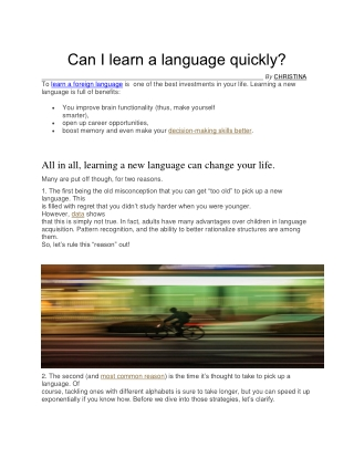Learn Languages Online With Native Speakers