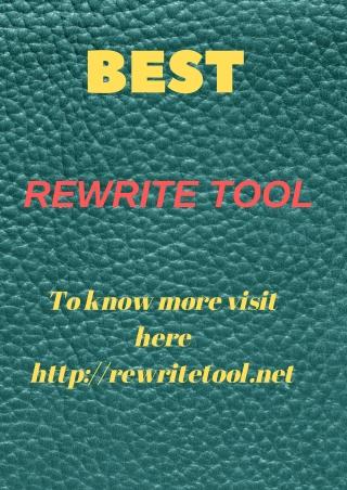 rewrite tool
