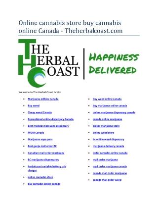 marijuana delivery canada