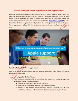 Apple Phone Number available 24/7 for our Customers