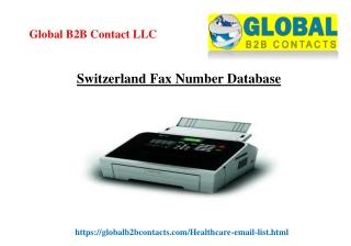 Switzerland Fax Number Database